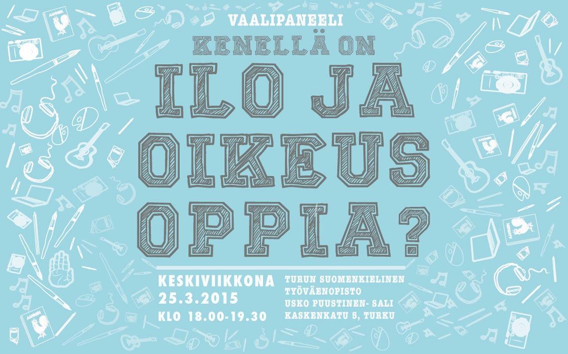 Turun vapaan sivistystyön toimijoiden vaalipaneeli 2015